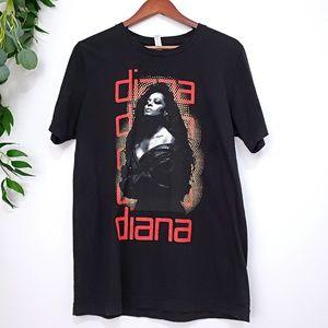 Bella + Canvas Black Diana Ross Glitter T-shirt